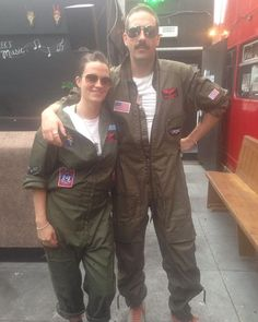 Pin for Later: 117 Ingenious DIY Costumes From Your Favorite TV Shows and Movies Maverick and Goose From Top Gun