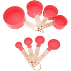 Make your kitchen and dining experience great with the 8 PC CORAL MEASURE SET. You can purchase this, and find other affordable Mixing Bowls & Measuring Cups, at your local At Home store. Kitchen Supplies, Kitchen Items, Kitchen Gadgets, Kitchen Stuff, Baking Accessories, Kitchen Accessories, Wedding Tent Decorations, Dream House Exterior, Mixing Bowls