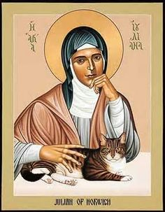 """For God says: Pray wholeheartedly... though you may feel nothing, though you may see nothing, for in dryness and in bareness, in sickness and in weakness, then is your prayer most pleasing to Me."" - S. Julian of Norwich"
