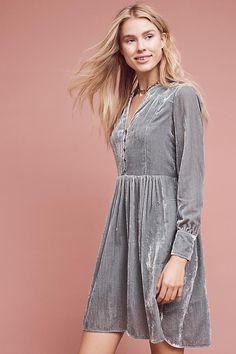 Velvet Shirt Dress - Anthro