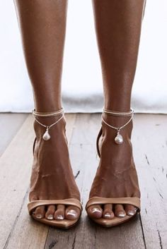 The clean and sleek Artemis anklets are handmade in a bright sterling silver and are highlighted by a single, lustrous baroque pearl drop. Lace Bridal Shoes, Wedding Shoes, Lace Wedding, Grace Love Lace, Artemis, Cute Womens Shoes, Discount Designer Shoes, Lace Heels, Girls Shoes
