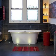 Modern bath.  Cool!