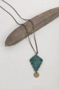 Macrame necklace handmade jewelry handmade macrame