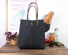 8105e4f848 Felt tote, large tote, personalized tote, monogram tote, teacher tote,  shopping tote, tote bag leather, over the shoulder bag, shopper bag