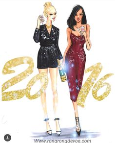 Happy 2016! @rongrong_devoe_illustration| Be Inspirational ❥|Mz. Manerz: Being well dressed is a beautiful form of confidence, happiness & politeness