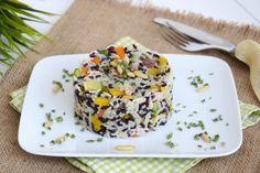 L'insalata di riso night and day è una ricetta d'autore, porta infatti la firma del pasticcere Luca Montersino. L'insalata di riso è fresca, facile, veloce, personalizzabile al