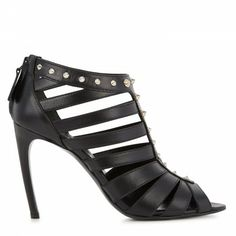 Alexander McQueen Leather cage sandals