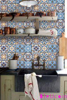 Portugal 8 Entwürfe mischen Fliesen / Wandtattoo = 44pcs Küche / Bad / Boden / Treppe Aufkleber / Abziehbilder