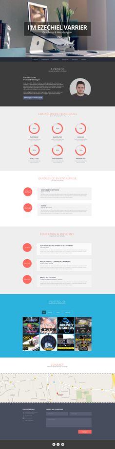 Maquette de mon futur CV interactif, plus que le code HTML/CSS à faire !