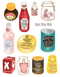 English packaging - well known brands