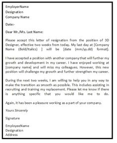 3 highly professional two weeks notice letter templates letter sample resignation letters thecheapjerseys Gallery