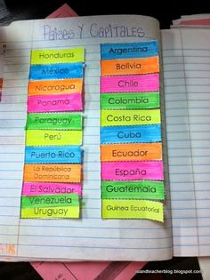 Island Teacher: Getting Creative with Spanish Speaking Countries and Capitals