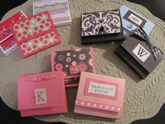 Cute way to carry sticky notes - easy to make for gifts too! (CCV) inexpensive teacher gift