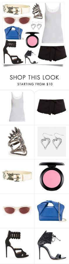 """""""Just Do It"""" by justinallison ❤ liked on Polyvore featuring Skin, Nikos Koulis, Avenue, Lanvin, MAC Cosmetics, RetroSuperFuture, J.W. Anderson, Alaïa and Casadei"""