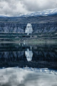 Dynjandi Waterfall in Iceland.