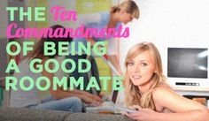 The 10 Commandments of being a good roomate