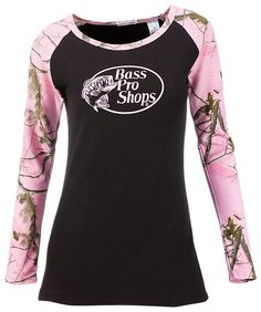 Bass Pro Shops Thermal Raglan T-Shirt for Ladies | Bass Pro Shops