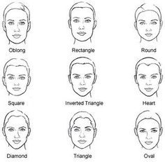Hair Style Guide (According to face shape) . Rectangular or oblong: Short to medium length hairstyles with extra flavor at the sides can suit you perfectly well. Layers can also add suppleness and roundness to straight lines. Too long hair, high hair, and center parts will tend to lengthen your face. Keep your hair above shoulder length and try to add volume at the sides of your hair style.