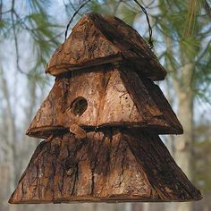 I really love this bird house. Rustic and simple.