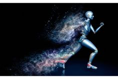 Check out Running robot shattered into dust by iLexx on Creative Market