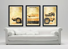 Back to the Future movie poster set. Delorean by SPACEBARdesigns, $37.00