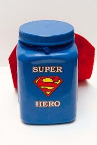 """What a neat behavior motivator! Secret """"Hero"""" of the day. A student's name is drown from the jar. If they have followed all the rules for the day they get a treat. If they don't, the teacher announces that the super hero needs to try again. The teacher never mentions the person's name if they misbehave."""