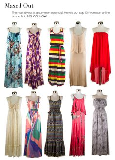 Love maxi dresses for the summer they are so easy to throw on! you can dress them down for the  beach or totally glam them up for the  night.#COLORSOFSUMMER