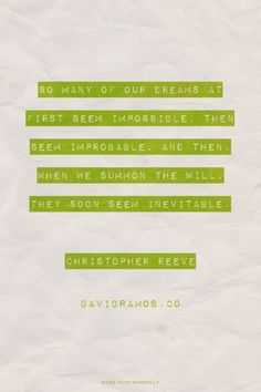 12 Ideas To Get Your Dreams Fired Up! — David Ramos