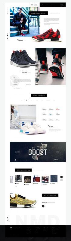 Creative Web, Design, Adidas, and Nmd image ideas & inspiration on Designspiration Website Design Layout, Web Layout, Layout Design, Website Designs, Design Ideas, Site Inspiration, Site Vitrine, Wordpress, Newsletter Design