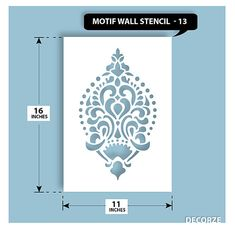 Indian traditional Motif Stencil, Traditional Stencil, Motif, Wall Stencils, Home Improvements