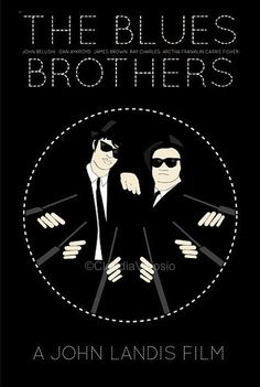 The Blues Brothers (1980) - Minimal Movie Poster by Claudia Varosio