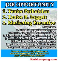 Lowongan Tentor Perhotelan, Bahasa Inggris dan Marketing di Sun Marino, Bandar Lampung - KarirLampung.com
