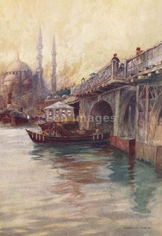 Galata Bridge by Warwick Goble