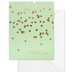 Sugar Paper Mint Thank You Note Card Set
