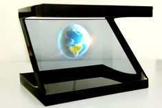 IMAGINATION FARM USA LLC is the creator of this amazing kickstarter project. It's an interesting idea, that you can take you're smart phone and place it atop this pyramid contraption and create a holographic image. You can even buy one that allows you to use your tablet, for a much bigger image.