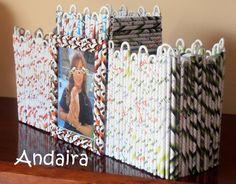 Andairadas: Portalápices torreón hecho de rollitos de papel