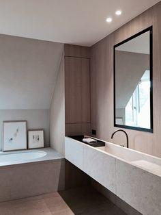 More interior inspiration at www.droikaengelen.com - COPP bathroom, marble sink, oak