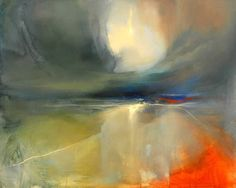 Edinburgh based artist Beth Robertson Fiddes takes inspiration from the dramatic land and seascapes at the West Highlands and islands of Scotland. After making on-site sketches, she develops her final pieces in the studio, layering glazes. Abstract Watercolor, Abstract Landscape, Landscape Paintings, Abstract Art, Abstract Paintings, Watercolour, Love Art, Painting Inspiration, Sculpture Art