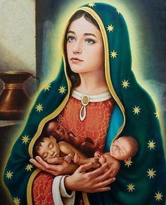 Our Lady of Guadalupe with blue eyes! Que Hermosa! Catholic Prayers, Catholic Art, Catholic Saints, Religious Art, Catholic Pictures, Jesus Pictures, Blessed Mother Mary, Blessed Virgin Mary, Mother Mother