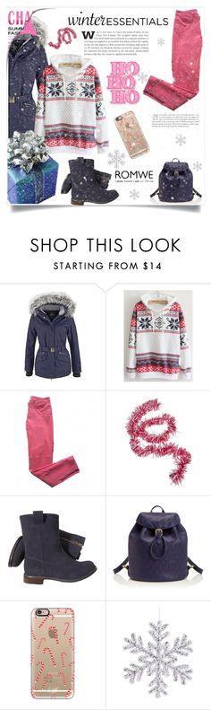 """Snowflake Sweatshirt"" by aida-banjic ❤ liked on Polyvore featuring Sandro, Chatham, Liberty, Casetify and romwe"