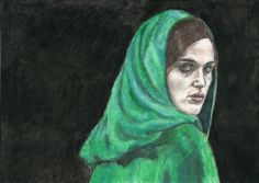 Katie McGrath as Morgana by Vanessafari - #KatieMcGrath in the #BBCMerlin series, by #Vanessafari. This drawing and more at vanessafari.com