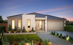 Metricon Homes: Axis 24 - Metro Facade. Visit www.allmelbournebuilders.com.au for all display homes and building options in Victoria