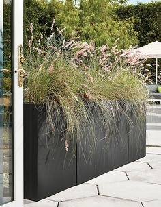 Terrace Rectangular Modern Planters - Modern Planters - Modern Home Decor - Room & Board Backyard Ideas For Small Yards, Small Backyard Landscaping, Landscaping With Rocks, Black Rock Landscaping, Modern Backyard Design, Terraced Landscaping, Landscaping Melbourne, Modern Landscape Design, Traditional Landscape