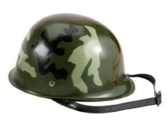 Kids Camouflage Plastic Army Helmet by Rothco. $7.44. Kids Camouflage Plastic Army Helmet Kids Camo Plastic Army Helmet. These kids camo army helmets are made of durable plastic, they are adjustable and have a chin strap. The ideal army helmet for kids playing soldier and they make a real cool party and birthday favors. Be the hit mom in the neighborhood