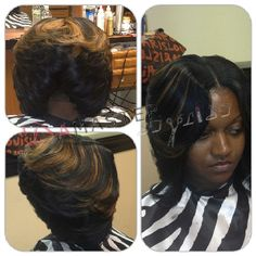 Layered quick weave bob Quick Weave Hairstyles, Bob Hairstyles, Straight Hairstyles, Amazing Hairstyles, Layered Hairstyles, Black Hairstyles, Quick Weave Styles, Quick Weave Bob, Short Hair With Layers