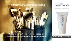 Did you know? Chrissanthie Lid Cleanser is great for washing makeup brushes and applicators. . #eyelashextensions #lashextensions #makeupbrushes #makeup #makeupartist #lashtech #beautysalon #lashbar