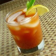 Perfect Classic Bloody Mary with V8 (small low sodium cans and Tito's vodka 155 calories)