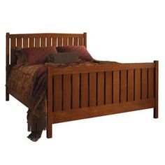 My bed is from Stickley...the Slat Bed from the Mission Collection.  Queen Size. #CountryLiving #DreamBedroom
