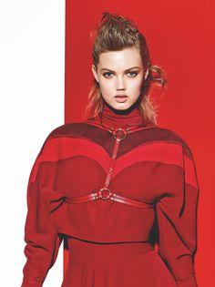 Smile: Lindsey Wixson in Vogue Turkey August 2015 by Richard Burbridge