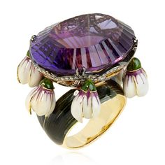 Ilgiz F for @annoushkaducas ring - purple amethyst with a gemstone weight of more than 47 carats. Price - £42,000 Shop the look: http://www.thejewelleryeditor.com/window-shopping/jewellery-for-her/ilgiz-f-for-annoushka-crocus-amethyst-ring/